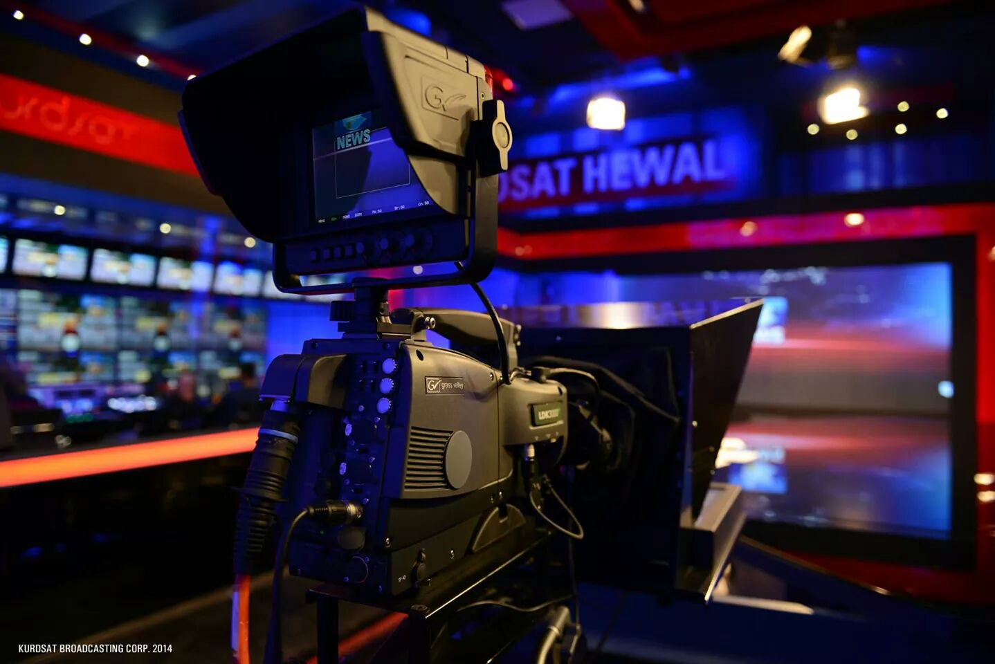 KURDSAT PROJECTS - News studio designed and installed by BSS for Kurdsat