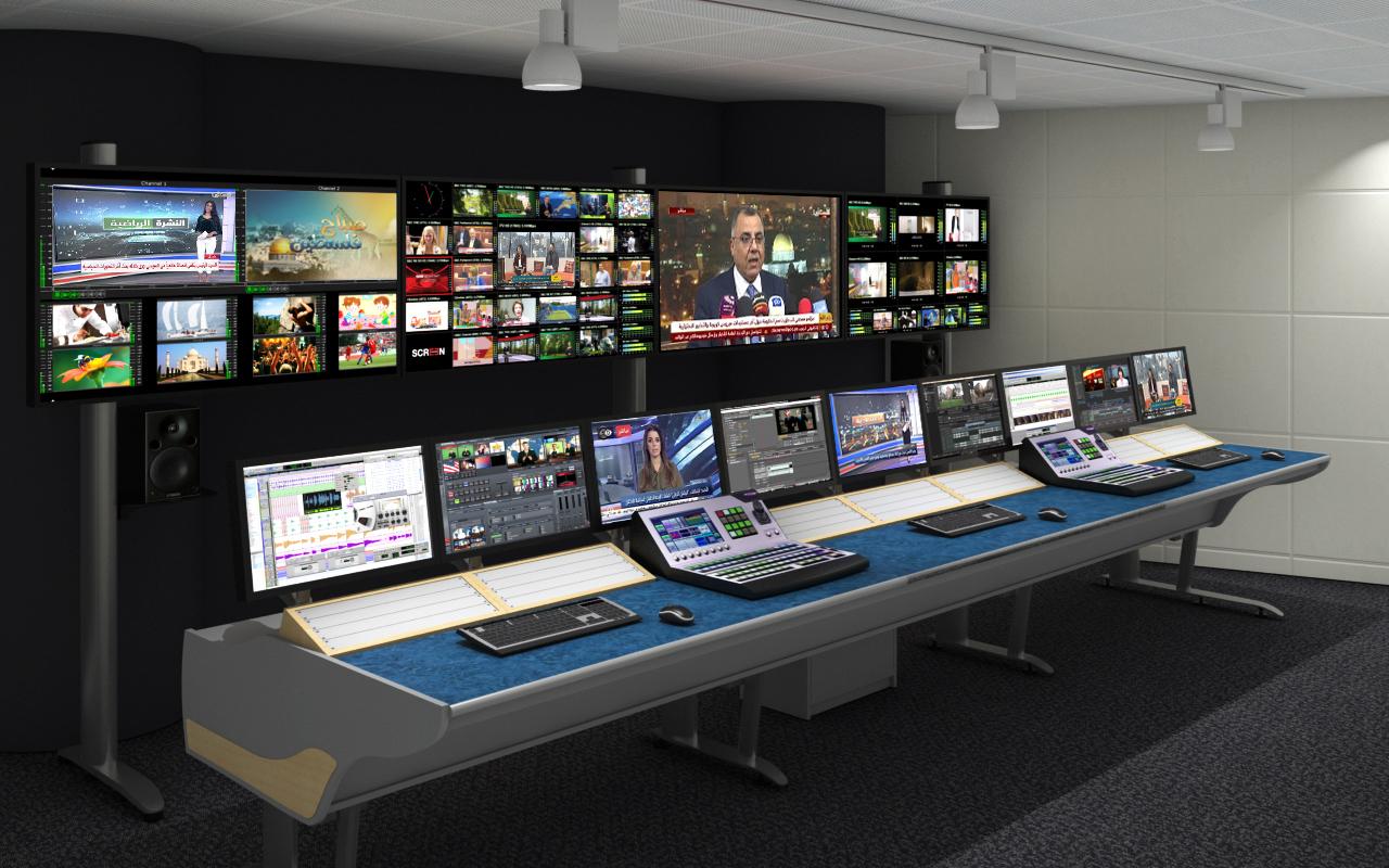 Palestine tv studio done by bss