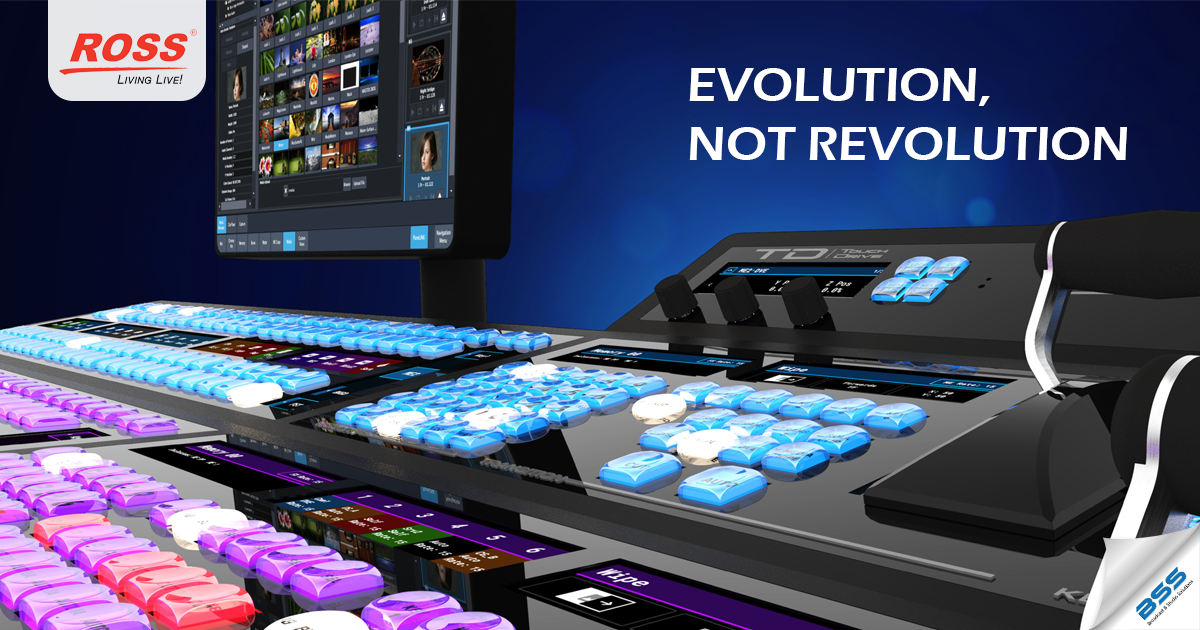 ross TouchDriveTMredefines the relationship between a Technical Director/Vision Mixer and their switcher by bringing the same touch technology you know and love from your smartphone to video production switchers